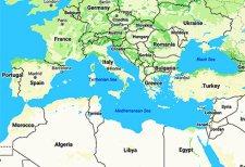 Mediterranean Sea Map