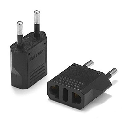 United States to Italy Travel Power Adapter (2-Pack, Black) - Amazon