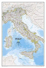 National Geographic: Italy Classic Wall Map on Amazon