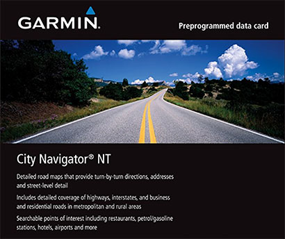 Garmin City Navigator for Detailed Maps of Italy and Greece