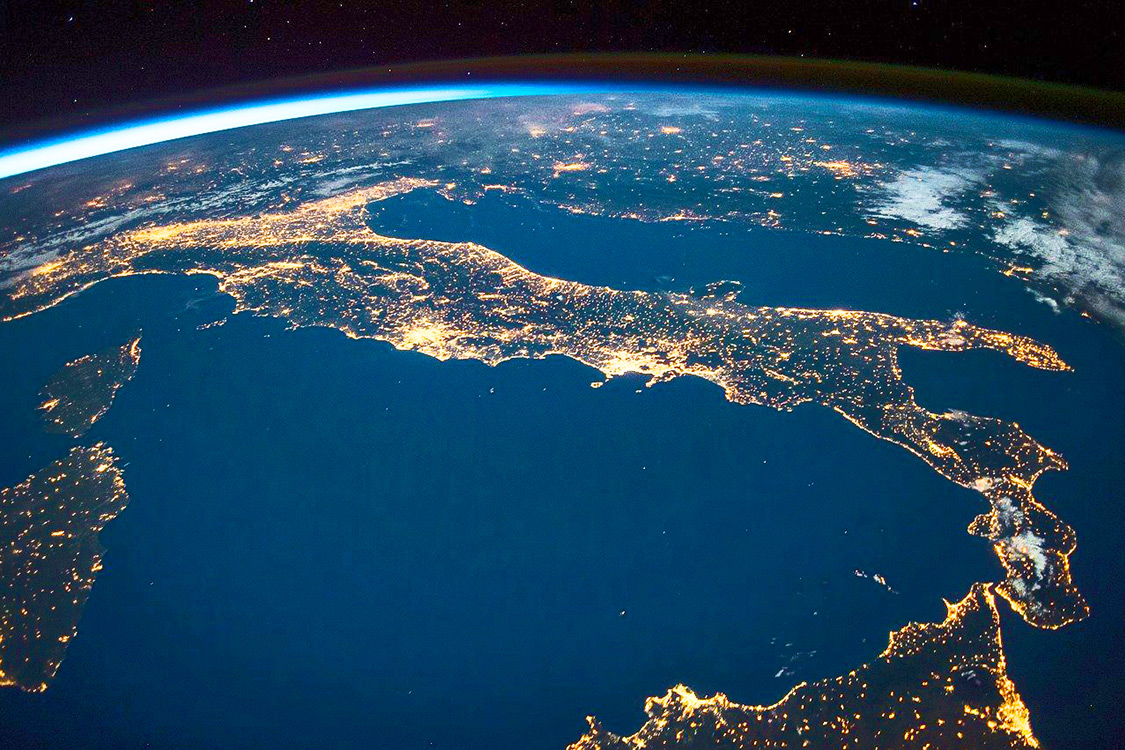 Italy Photos - POV International Space Station