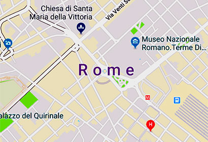 Map of Rome Italy