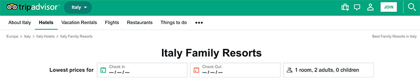 Italy Family Resorts on Tripadvisor