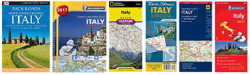 Italy Road Maps on Amazon
